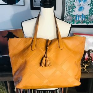 Large Faux Leather Tassel Tote 🌈